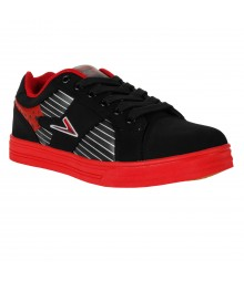 Vostro Black Red Sports Shoes for Men - VSS0215